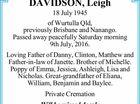 DAVIDSON, Leigh