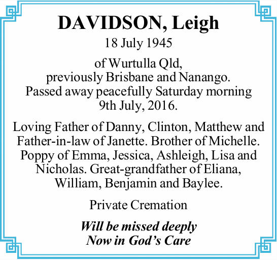 DAVIDSON, Leigh 