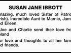 SUSAN JANE IBBOTT