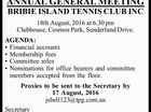 ANNUAL GENERAL MEETING BRIBIE ISLAND TENNIS CLUB INC