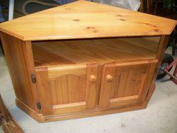 pine, 2 door cupboard & shelf, gc. $50. Can deliver