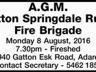 A.G.M. Gatton Springdale Rural Fire Brigade