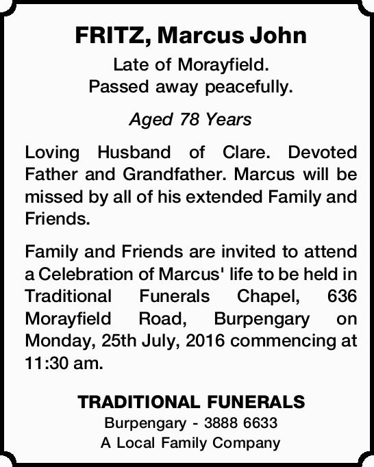 FRITZ, Marcus John 