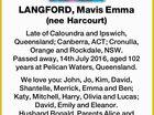 LANGFORD, Mavis Emma (nee Harcourt)