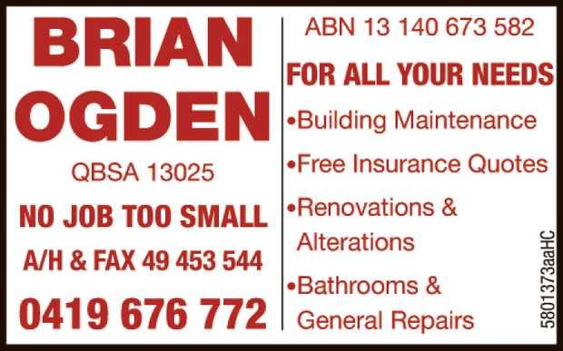 *Building Maintenance   *Renovations & Alterations   *Bathrooms & General Repairs...