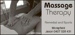 Massage Therapy Remedial and Sports 6350194ab Morayfield Jason 0407 028 431