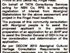 Registration of Interest Aboriginal cultural knowledge holders in relation to the installation of NBN infrastructure along Fingal Rd, Lighthouse Pde, Queens St, Prince St and Letitia Rd, Fingal Head: On behalf of TATA Consultancy Services acting for NBN Co, RPS is requesting registration of interest from Aboriginal Stakeholders for the ...