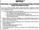 OPTUS  - PROPOSAL TO UPGRADE AN EXISTING MOBILE PHONE BASE STATION AT ETON