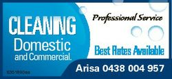 Cleaning Domestic andCommercial. 6351890aa Professional Service Best Rates available Arisa 0438 004...