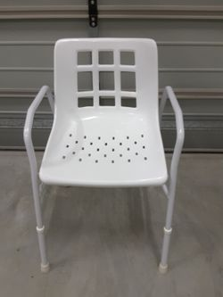 As new adjustable shower chair... excellent condition only used a couple of times