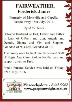 FAIRWEATHER, Frederick James Formerly of Montville and Capella. Passed away 18th July, 2016. Aged 89...