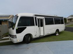 TOYOTA Coaster bus, low k's, new fitout, diesel heater, DB, solar, toilet shower, fridge/fr...
