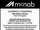 CURRENTLY TENDERING UQ Gatton Library