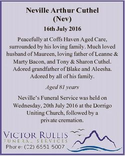 Neville Arthur Cuthel (Nev) 16th July 2016 Peacefully at Coffs Haven Aged Care, surrounded by his lo...