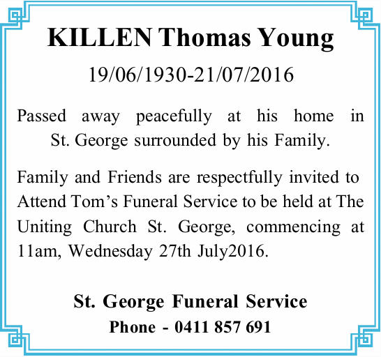 KILLEN Thomas Young 