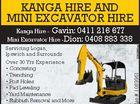 Kanga Hire & Mini Excavator Hire