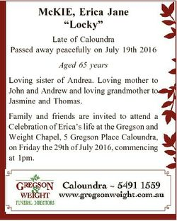 """McKIE, Erica Jane """"Locky"""" Late of Caloundra Passed away peacefully on July 19th 2016 Aged..."""