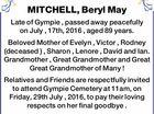 MITCHELL, Beryl May