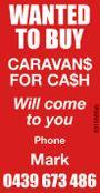 Wanted to buy Caravans