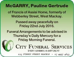 McGARRY, Pauline Gertrude of Francis of Assisi Home, formerly of Webberley Street, West Mackay. Pass...
