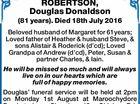 ROBERTSON, Douglas Donaldson