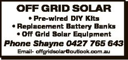 OFF GRID SOLAR * Pre-wired DIY KIts * Replacement Battery Banks * Off Grid Solar Equipment Phone Sha...
