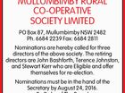 MULLUMBIMBY RURAL CO-OPERATIVE SOCIETY LIMITED