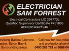 ELECTRICIAN SAM FORREST