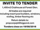 INVITE TO TENDER