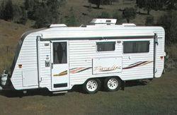 "IMMACULATE 05 model Traveller Paradise 19'6"" van, a/c, 3 way fridge, solar panels, s/b..."