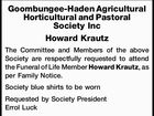 Goombungee-Haden Agricultural Horticultural and Pastoral Society Inc