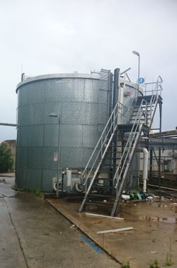 One very Large Water Tank (35000Ltr) 9m diameter by 6 m height 1.2m x 2.5m bolt together zinc steel...