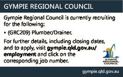GYMPIE REGIONAL COUNCIL Gympie Regional Council is currently recruiting for the following: * (GRC209...