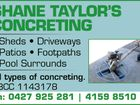 SHANE TAYLOR'S CONCRETING