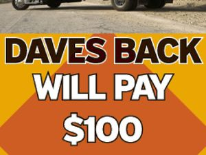 Daves Back ~ Will pay $100