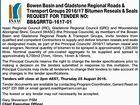 Bowen Basin and Gladstone Regional Roads & Transport Groups 2016/17 Bitumen Reseals & Seals