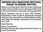 HERVEY BAY SEAFOOD FESTIVAL ROAD CLOSURE NOTICE