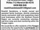 Public Notice Rosehill Sandstone