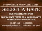 USTOM MADE AUTOMATIC GATES