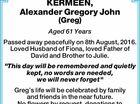 KERMEEN, Alexander Gregory John (Greg)