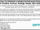 PROPOSAL TO UPGRADE A MOBILE PHONE BASE STATION AT