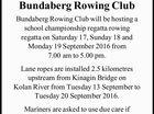 Bundaberg Rowing Club Bundaberg Rowing Club