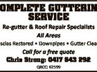 Complete Guttering Service