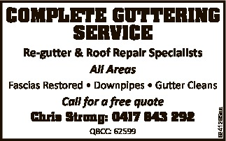 Re-gutter & Roof Repair Specialists