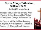 Sister Mary Catherine Sellen R.S.M