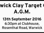 Warwick Clay Target Club A.G.M.