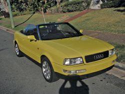 AUDI Cabrio 2.6 SE, 1998,   116,000k, yellow, black lthr & soft-top,   5spd man., a/c...