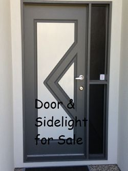 Solid door with complete frame and side light, SS fittings with dead lock