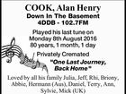 COOK, Alan Henry