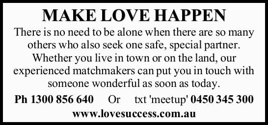There is no need to be alone when there are so many others who also seek one safe, special partne...